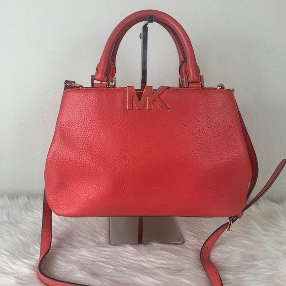 Michael Kors Florence Medium Satchel Leather Bag